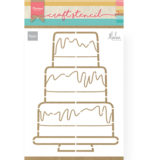 PS8057 - Party cake by Marleen - Craftstencil - Marianne Design