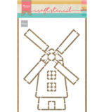 PS8058 - Windmill - Craftstencil - Marianne Design