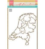 PS8059 - Nederland - Craftstencil - Marianne Design