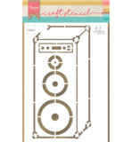 PS8062 - Music speaker by Marleen - Craftstencil - Marianne Design