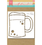 PS8063 - Beer mug by Marleen - Craftstencil - Marianne Design